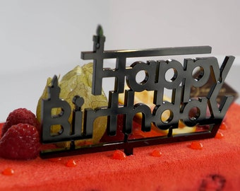 Cake Topper birthday - Topper Happy Birthday - happy birthday