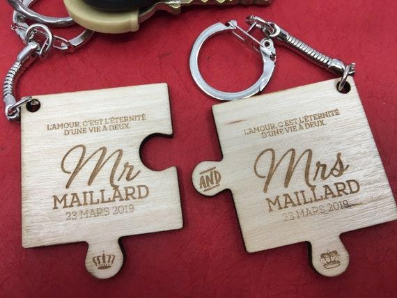 Merci cadeau mariage coiffeur//Coiffeuse maquilleur Porte-clés Carte Cadeau