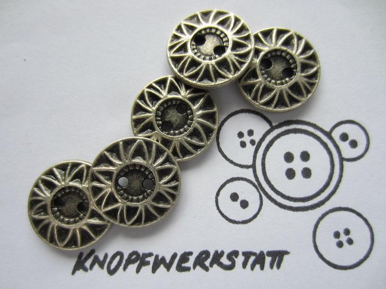 Flower Sewing Button Buttons Buttons Buttons Craft Button,metal button 5 Metal Buttons 20mm Buttons Trachtenkn\u00f6pfe Star flower