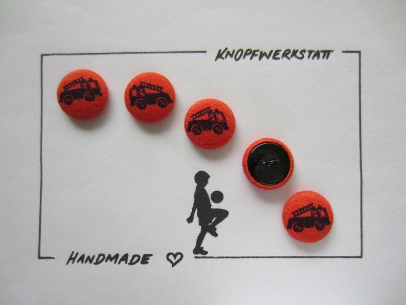 5 fabric buttons 20 mm buttons fabric buttons buttons fire truck craft button buttons car car children/'s buttons fire brigade sewing button buttons buttons