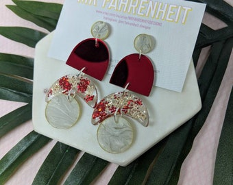 FRIDA Acrylic and Resin Statement Earrings