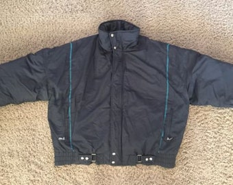 4cefe68da40 Vintage Bogner Goose Down Ski Jacket Mens Size 44 Black Made In USA