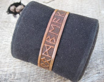 Viking Leather Cuff Etsy