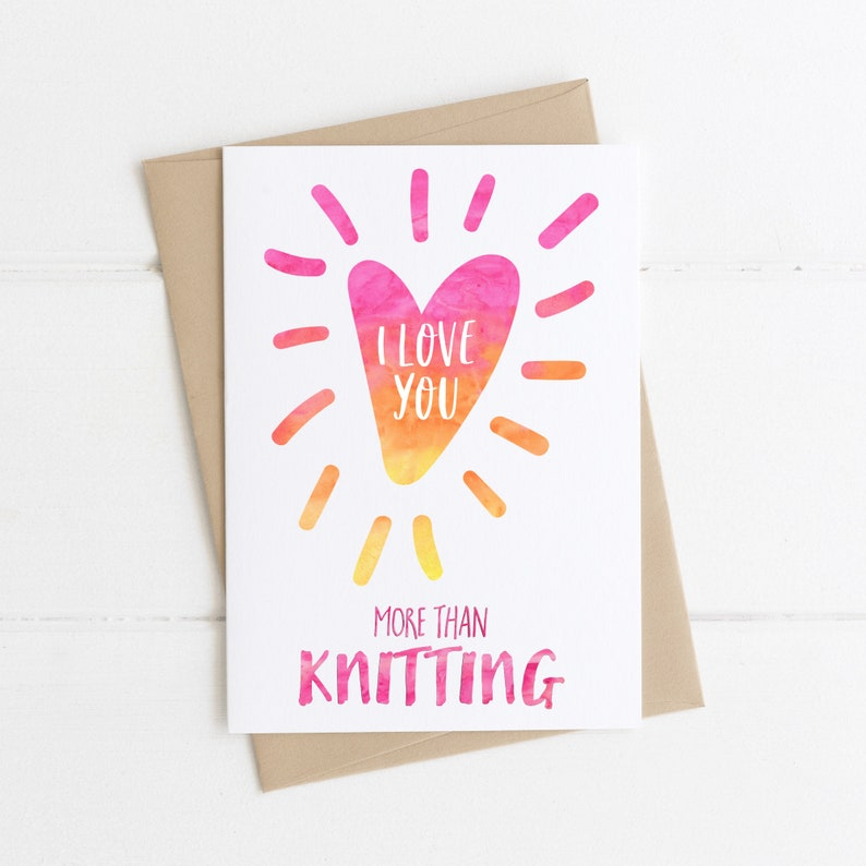 Funny Knitting Greeting Cards Card For Knitter