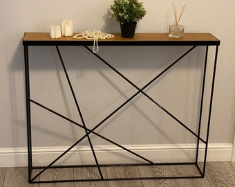 Narrow Console Table / Entrance Table / Entryway Table / Narrow Table /  Oak Console Table / Modern table / Walnut / Sideboard