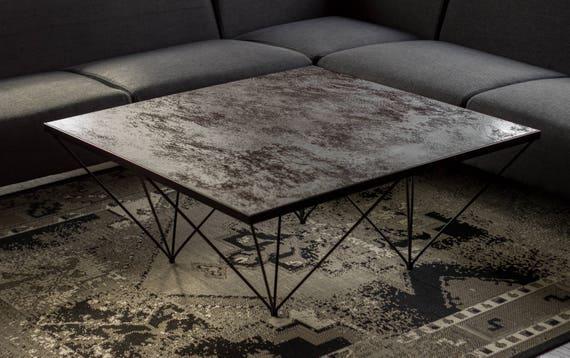 Tavolo Industriale Quadrato : Tavolino da salotto tavolino moderno tavolino industriale etsy