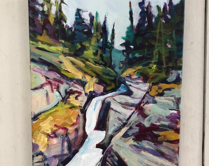 Original landscape painting - 11x14 inch - Jasper - at the surface