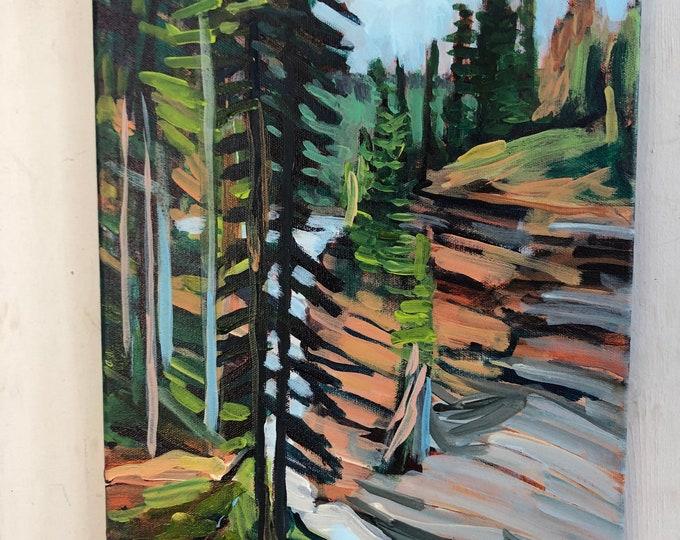 Original landscape painting - 11x14 inch - Through it all