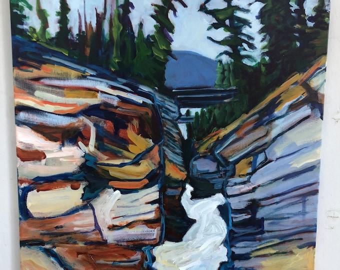 Original landscape painting - 24X24 inch - Feeling Powerful
