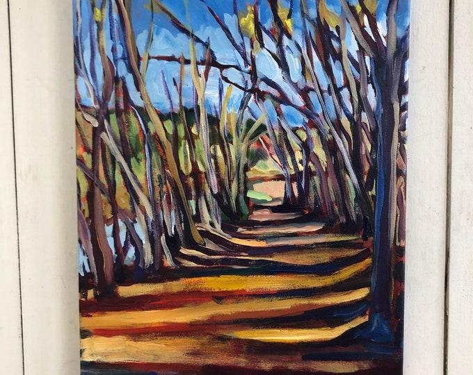 Original Landscape Painting - Edmonton's river valley inspired -