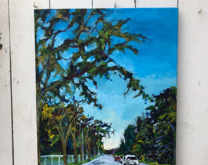 Landscape Painting - 18x24 inch - Acrylic on canvas - Sunday afternoon walks with you