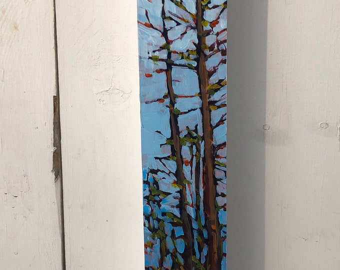 3x18 inch painting on cradled birch - The strength of the spirit