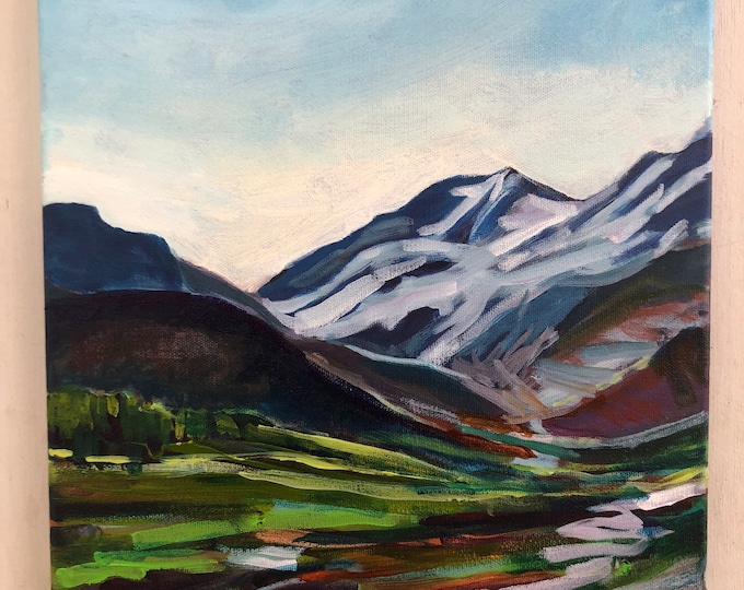 Original Canadian Landscape Painting - Columbia Icefields - Always changing