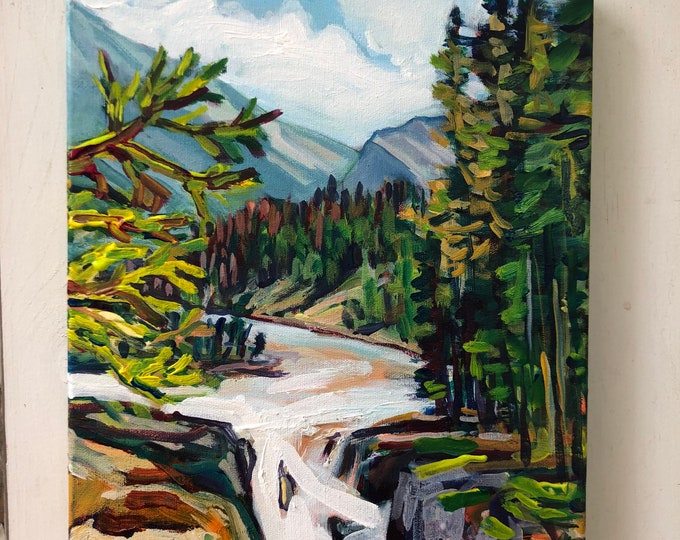 Original landscape painting - 11x14 inch - Moments with you