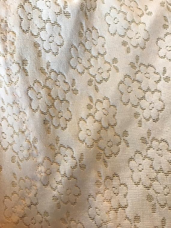 Deadstock Cream Bodysuit, Mesh Bodysuit, Floral B… - image 10
