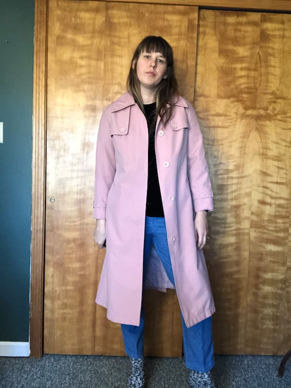 Dusty Pink Misty Harbor Trench, Trench Coat, Ladi… - image 1