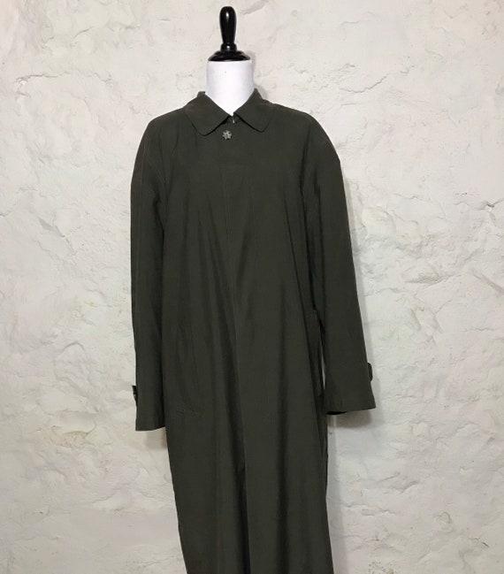 Long Hunter Green Trench Coat, Mens Coat, Sanyo Br