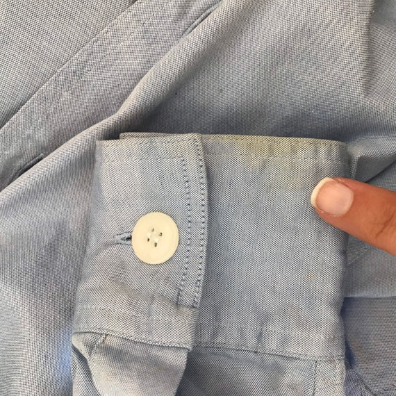 Chambray Bodysuit, Long Sleeve Bodysuit, Blue Bod… - image 10
