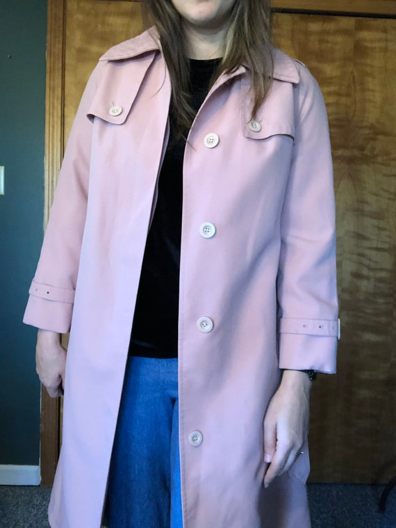 Dusty Pink Misty Harbor Trench, Trench Coat, Ladi… - image 2
