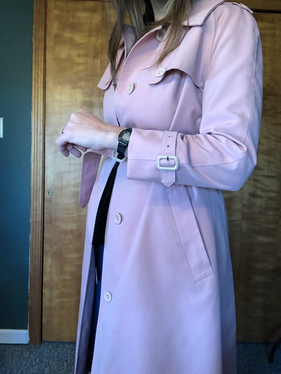 Dusty Pink Misty Harbor Trench, Trench Coat, Ladi… - image 7