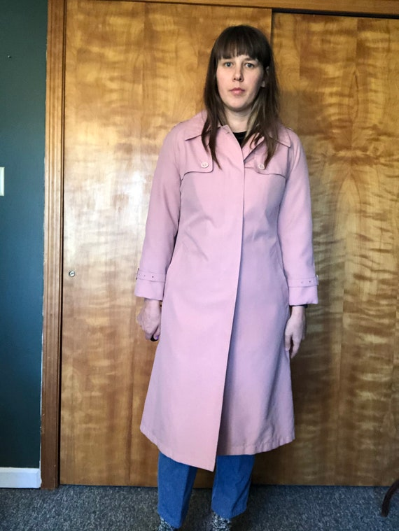 Dusty Pink Misty Harbor Trench, Trench Coat, Ladi… - image 4