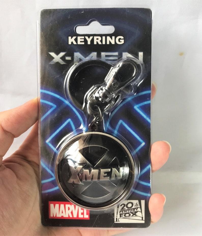 Keyring Metal Keychain The Avengers Marvel XMen Logo Gift for him Toy Super Hero Charm