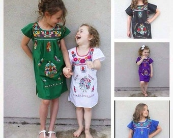 571cdd9b1978 Handmade traditional Mexican Dresses for girls
