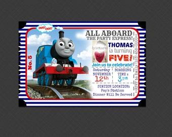 Thomas the train - Thomas the tank engine Inspired Birthday Party Invitation! PRINTED INVITATIONS - Printable Invites - Spanish Invitation