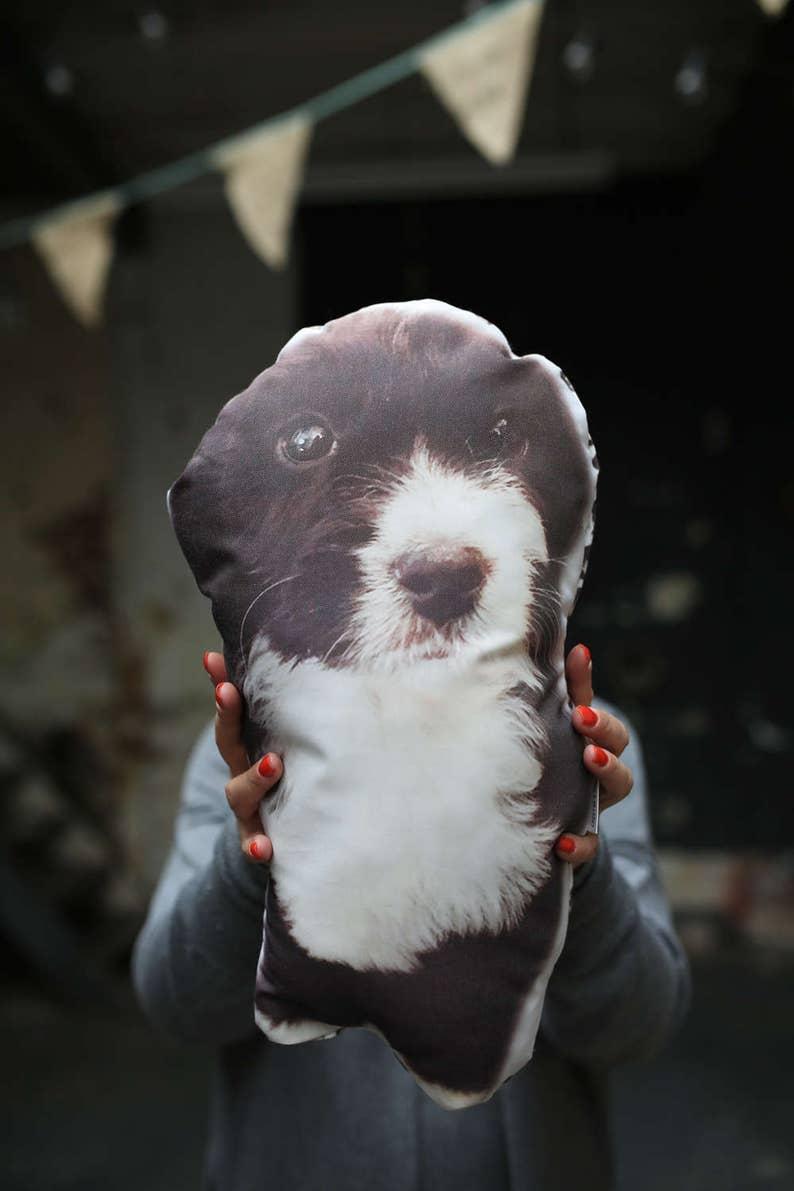 Customized Pet Pillow  Pet Photo Pillow  Pet Portrait  Dog image 0