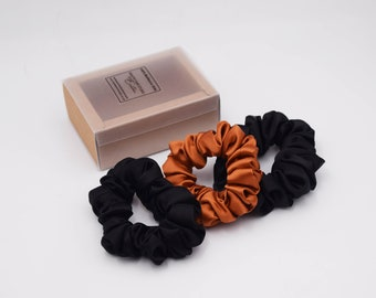 MULBERRY SILK SCRUNCHIES- 3  Large sizes