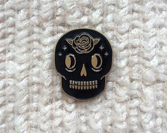 Rose Skull Pin