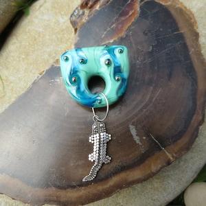 Lampwork mandalafocal bead Destash M-1