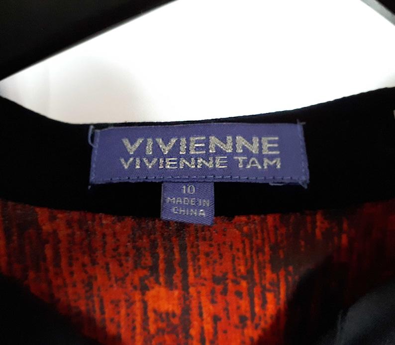 Vivienne Tam Grunge Textured Top Sheer BlouseDistress Textured BlouseVivienne by Vivienne Tam Abstract Paint Textured Blouse