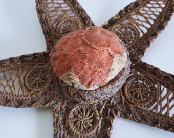 Ornate Victorian Wicker Pincushion