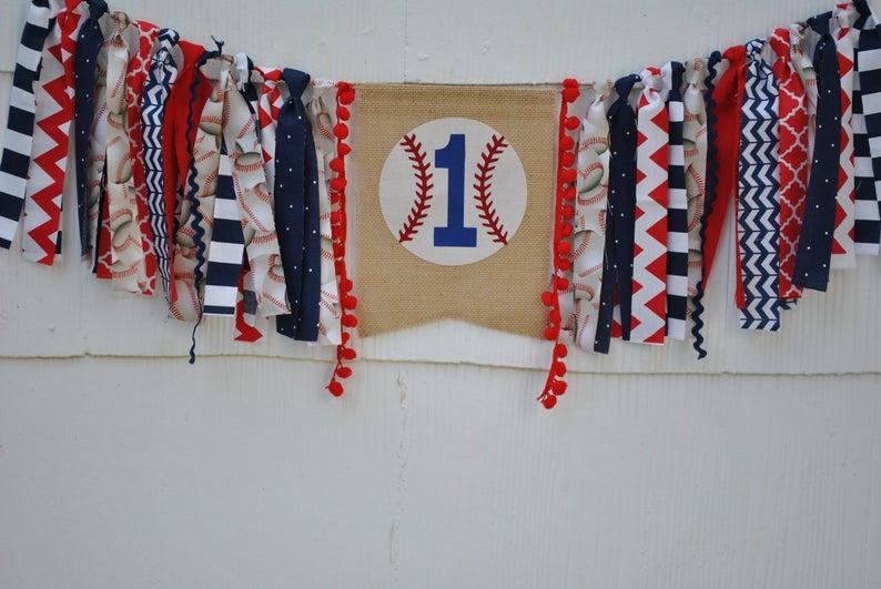 Little Slugger Birthday Little Slugger Highchair Banner Baseball Highchair Banner Baseball Birthday Banner Baseball Birthday