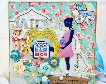 Customized Pregnancy Scrapbook, Pregnancy Scrapbook Album, Pregnancy Journal, Pregnancy Memory Book, Pregnancy Keepsake Gift, Pregnancy