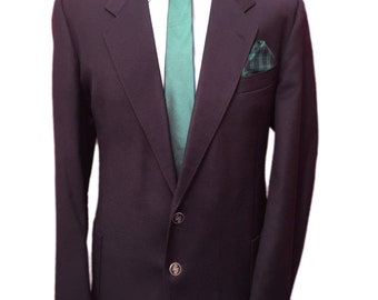 Jaeger London 46 Regular Traditional Vintage Navy Blazer,Pure New Wool,Made in Great Britain