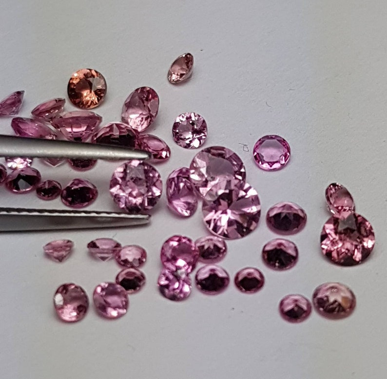 Natural pink Tourmaline 2 2.25 2.5 2.75 3 3.25 4 4.5 image 0