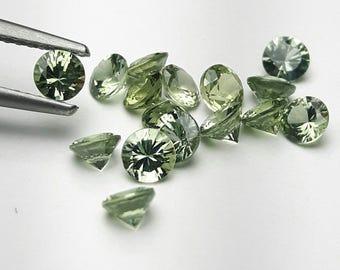 Natural 3.5mm round green Sapphire