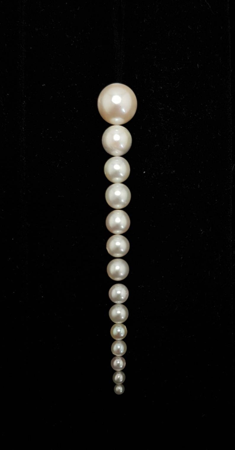 Natural 1/2 drilled Pearls 2.2 8mm round image 0