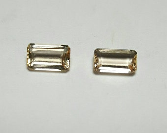 Two natural Imperial Topaz 0.46 total