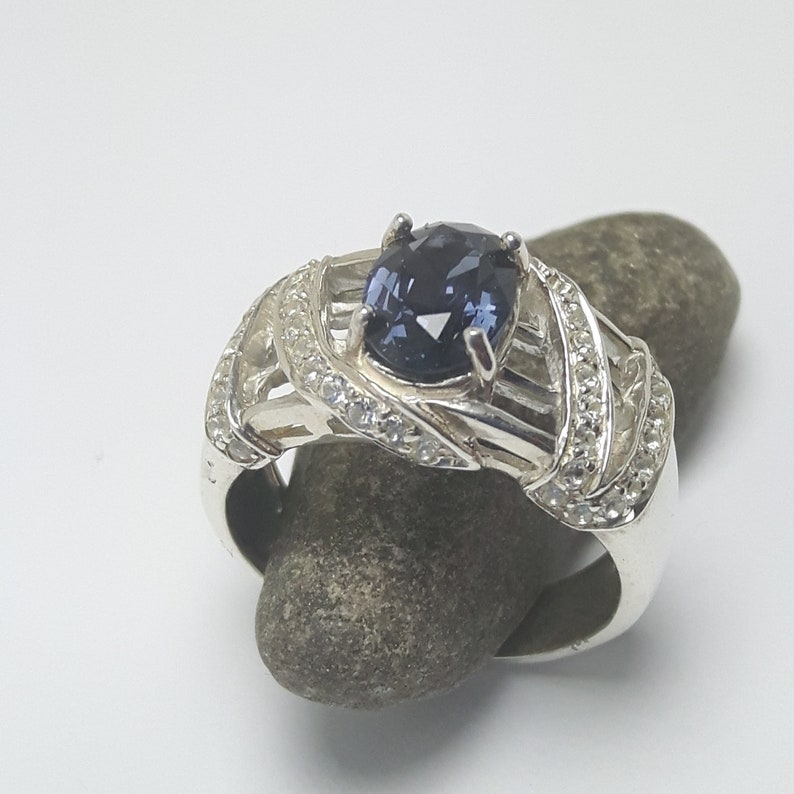Spinel and Topaz sterling 925 silver ring image 0