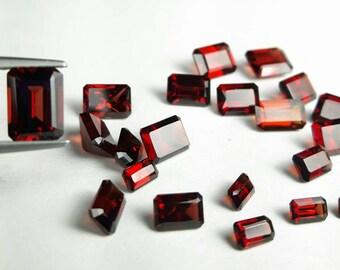 Natural Ox blood Garnet 5x3, 6x4, 7x5, 8x6