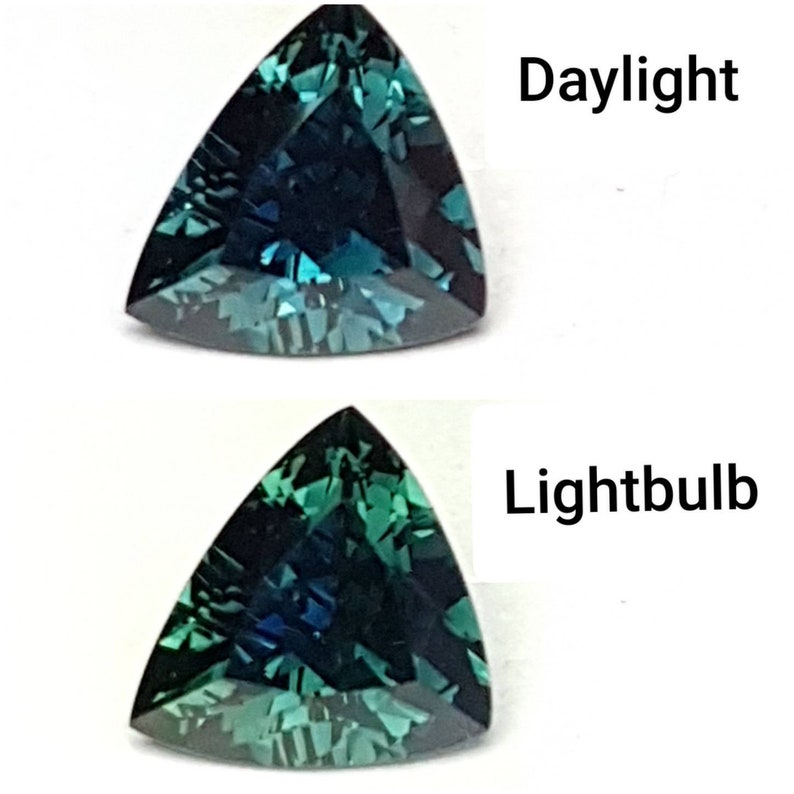 3.64ct Trillion Blue/Green Sapphire Teal image 0