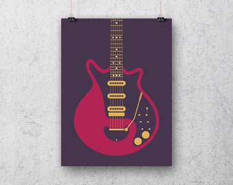 Brian May Red Special Queen Guitar Poster Art Print