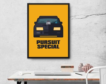 Mad Max Pursuit Special Ford Falcon Car Movie Poster Art Print