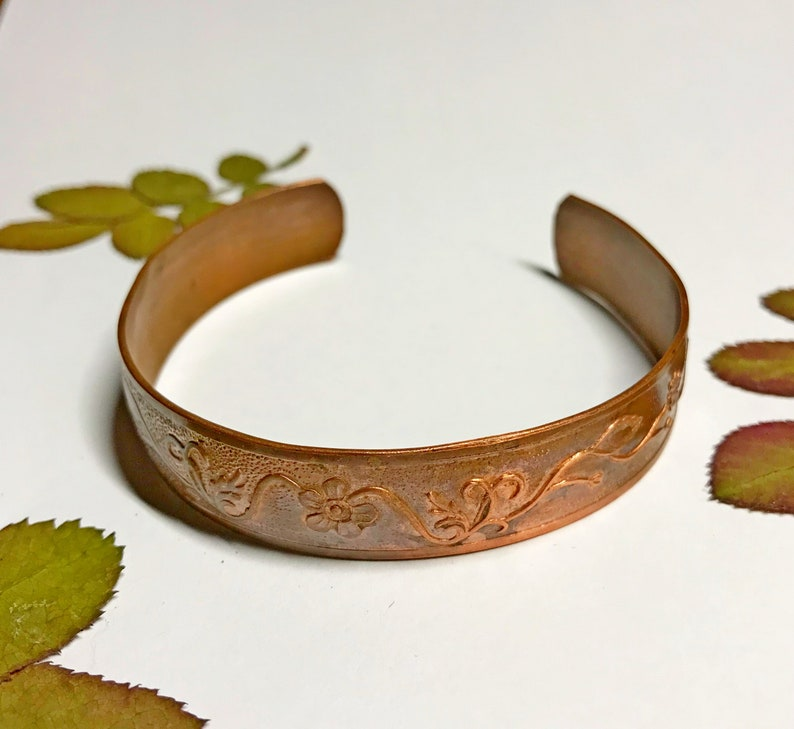 Soviet copper bracelet old copper bracelet cooper Cuff Bracelet russian jewelry USSR copper bracelet with pattern vintage jewelry