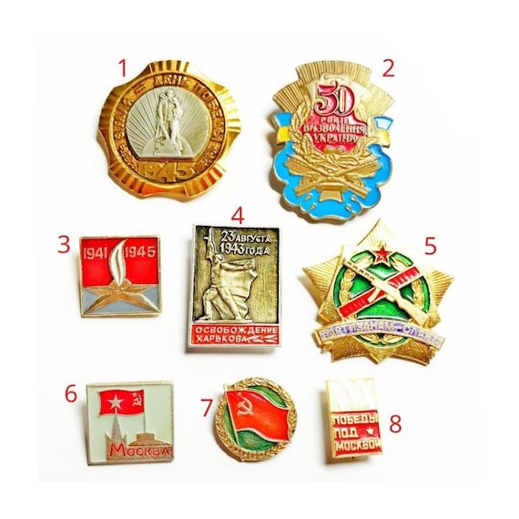 Soviet victory day pin - victory over fascism - US