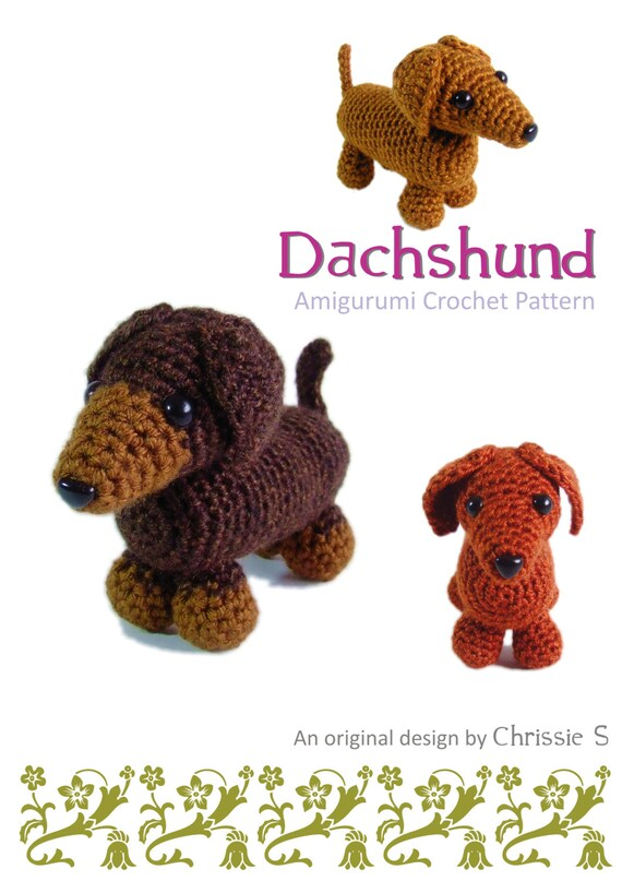 Delia the Dachshund Crochet Amigurumi Pattern – Shiny Happy World | 807x570