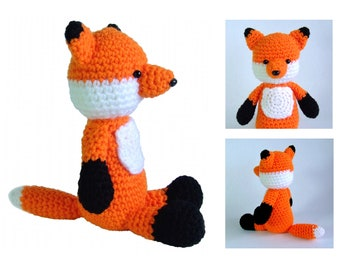 Fox amigurumi crochet pattern PDF